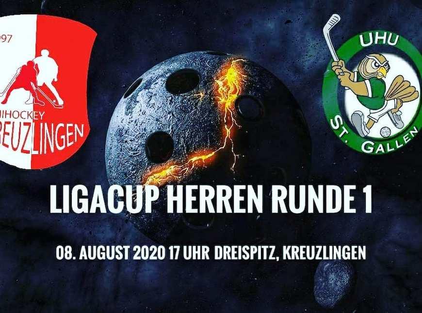 Ligacup Herren, Runde 1 Einladung zum Match am 8. August 2020 im Dreispitz Kreuzlingen