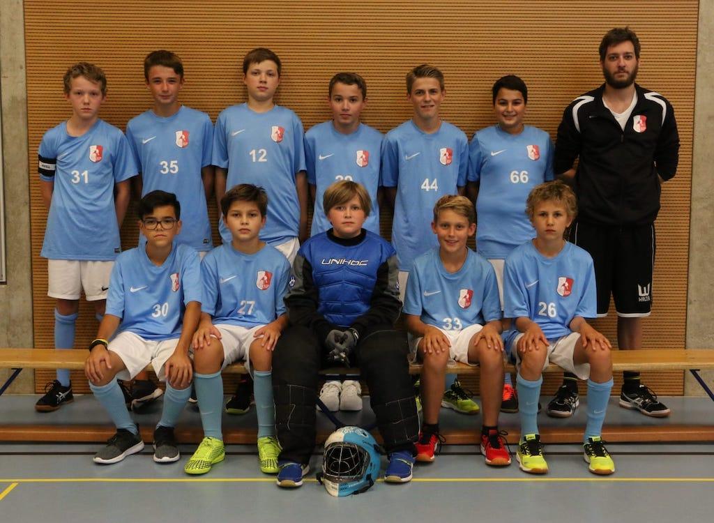 Mannschaftsfoto Junioren C, Saison 2020/21. Trainer: Andreas Naef