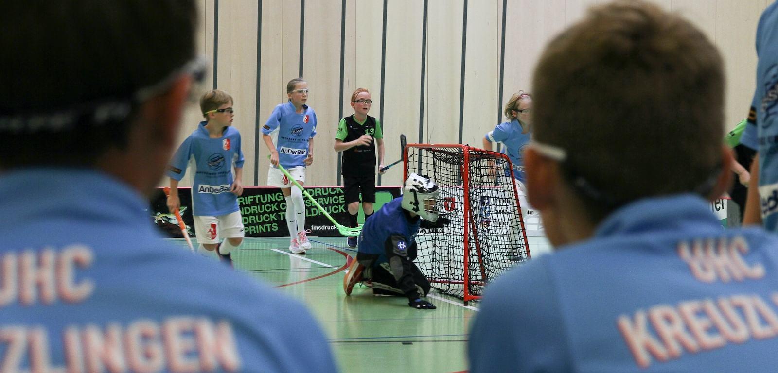Match der D-Junioren vom UHC Kreuzlingen. Foto: Bettina Schnerr