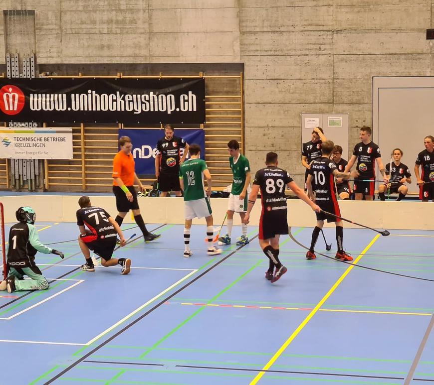 Ligacup der Herren 2020: Der UHC Kreuzlingen spielt im ersten Match gegen UHU St. Gallen.