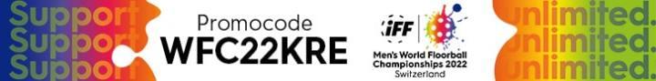 Weltmeisterschaft der Männer im Unihockey 2022 | Promocode für Support Unlimited für den UHC Kreuzlingen | Promocode für Support Unlimited für den UHC Kreuzlingen | WFC2022